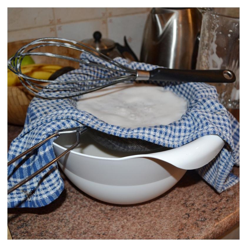 almond milk strainer