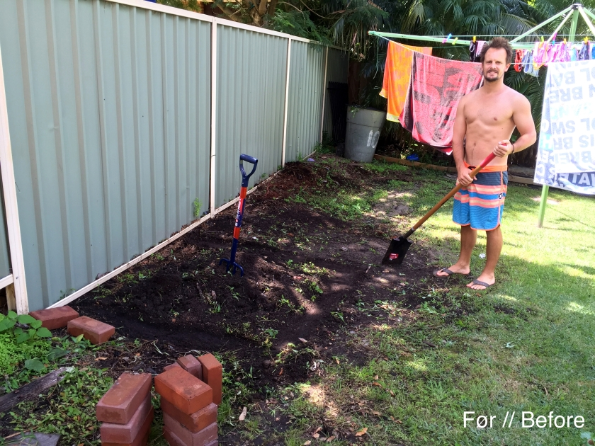 gardening before
