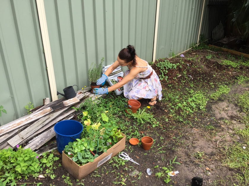Hippe garden chick
