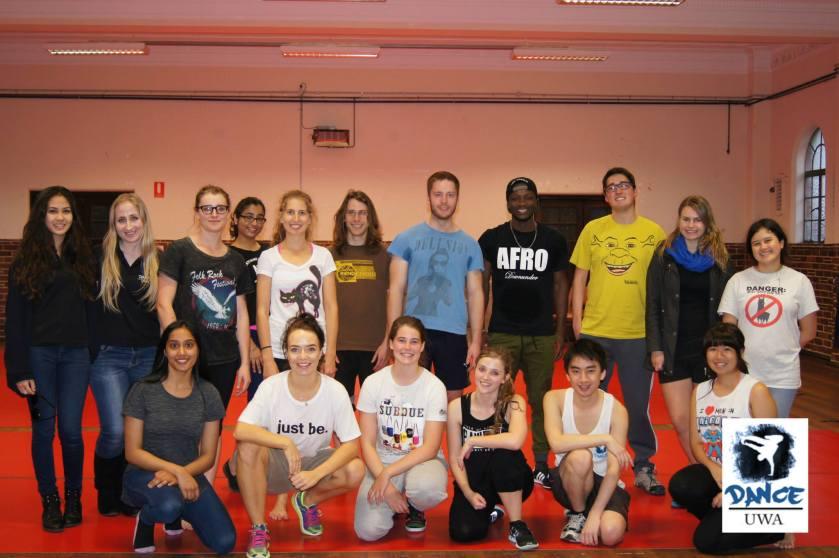 Perth UWA Dance workshop