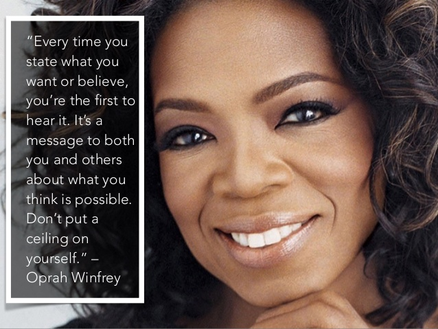 Oprah Winfrey Quote ceiling