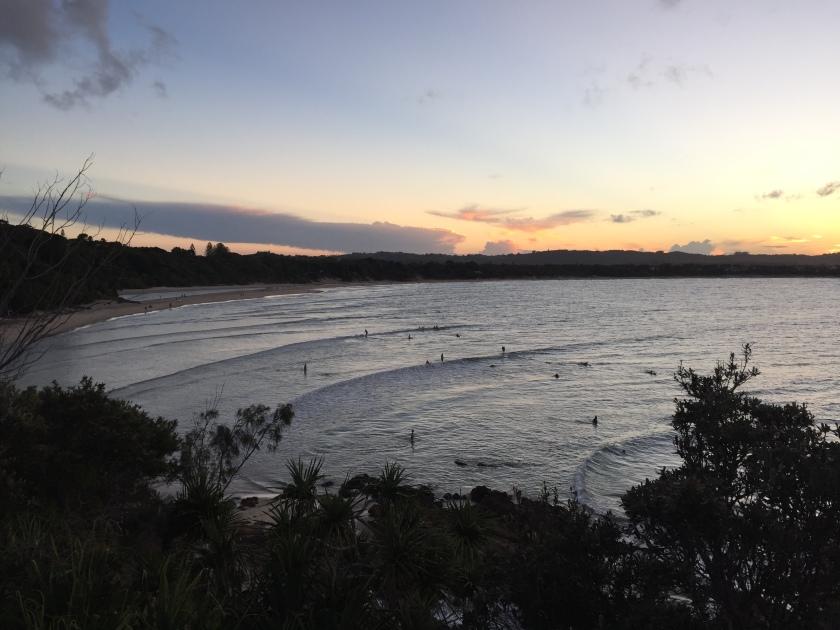 solnedgang i byron bay